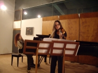 Conservatory of Athens – Recital for violin and piano (December 2012)