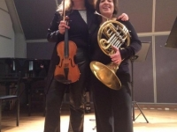 Recital for violin and horn, Nakas Conservatory, February 2017, Athens